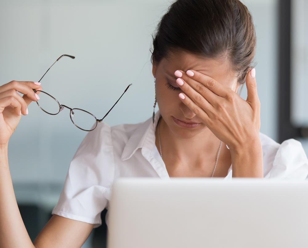 business woman feeling work pressure